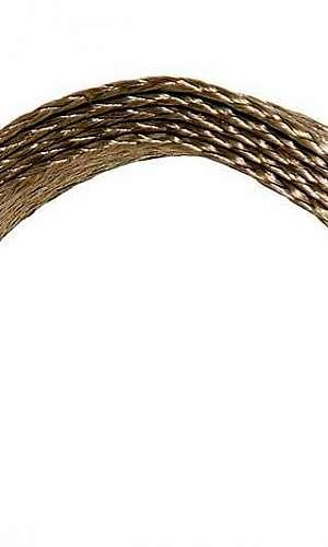 Cordoalha chata de cobre estanhado