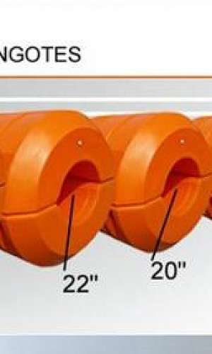 Flutuadores para tubulação